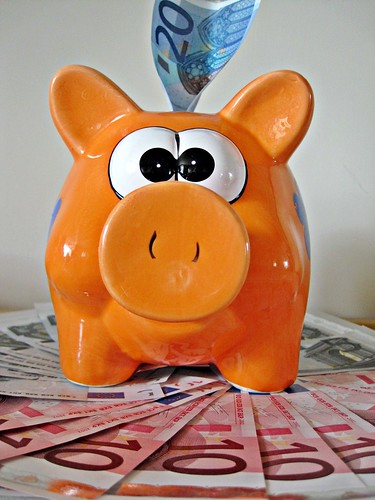 Piggy Bank With Euro Notes by Images_of_Money, on Flickr