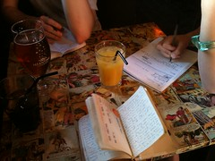 Creative Writing at the Florist Pub by olliefern