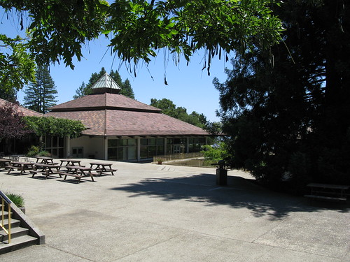 Cowell College dining hall.