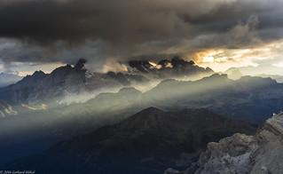 Abenddämmerung in den Dolomiten
