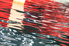 Soleil rouge (tableaux.imaginaires) Tags: soleil rouge tableau imaginaire reflet abstrait abstract water reflection color red art sea