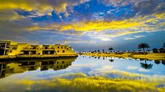 Ras Al khaima Cove Rotaba (izaabi) Tags: rasalkhaima lagoons sea sunrise landscape cityscape city clouds hotels rotaba sunset color photo emirates emirati uae rak
