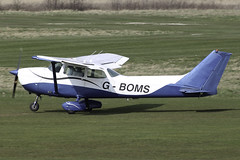 G-BOMS - departing Barton on Runway 27R