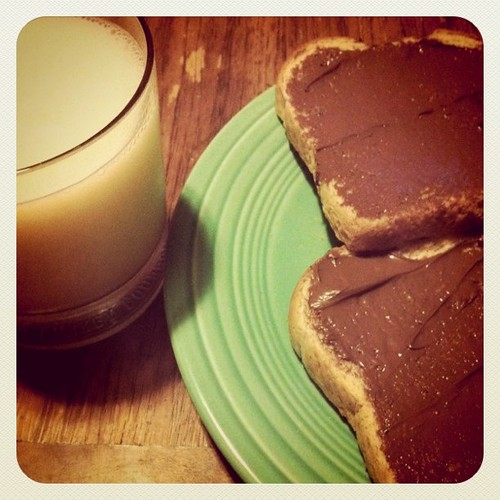 nutella for dinner.