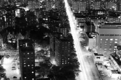 Second Avenue North Of 96th Street - East Side New York City At Night; Black And White (hogophotoNY) Tags: street new york city nightphotography blackandwhite usa white newyork black slr night 35mm unitedstates harlem manhattan side tripod north east second and newyorkstate lighttrails a1 filmcamera eastharlem spanishharlem avenue canona1 eastside bigapple 2ndavenue uppereastside eastcoast 2ndave 96th thebigapple 96thstreet canonfilmcamera at of canona1slr eharlem