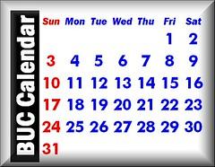 BUC Calendar