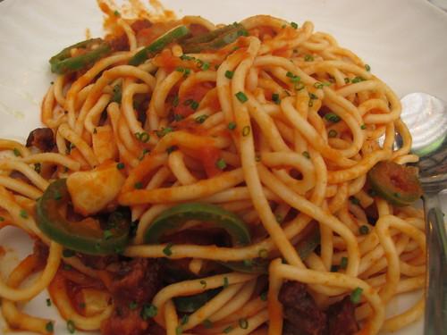 Fresh Spaghetti, Starbelly Bacon, Jalapeno, Tomato Sauce & Basil
