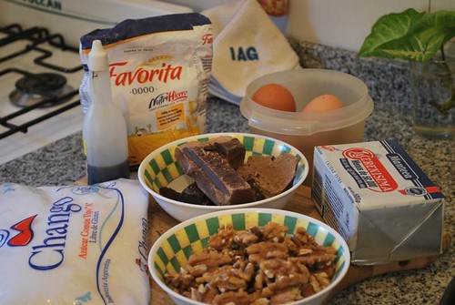 Brownie. Ingredientes.
