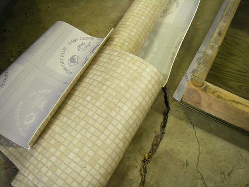 Vinyl flooring remnant