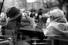 smoking IS sexy (Winfried Veil) Tags: leica girls two blackandwhite bw blur berlin sexy hat breakfast germany deutschland cafe dof hand bokeh cigarette smoke streetphotography streetlife rangefinder smoking depthoffield hut blond frombehind sw behind summilux asph zwei mädchen wasserturm prenzlauerberg frühstück rauch zigarette m9 gagarin rauchen vonhinten 2011 qualm tiefenschärfe unschärfe schwarzweis rauchend brünett messsucher mobilew strasenleben rykestrase leicam9 winfriedveil