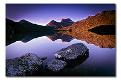 Cradle Mountain (v), Tasmania, Australia (Matthew Stewart | Photographer) Tags: cloud mountain lake water rock sunrise rocks dove australia fresh tasmania cradle 2010