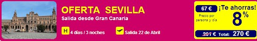 Oferta Vuelo + Hotel Sevilla