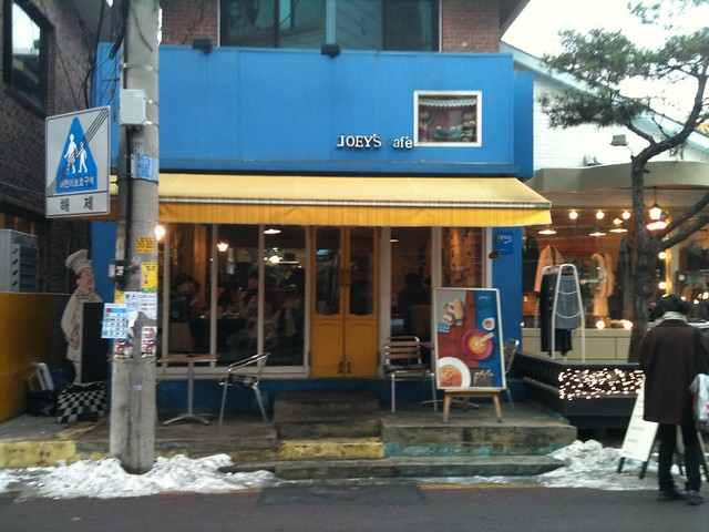 Hongdae is the home of cute cafes and restaurants