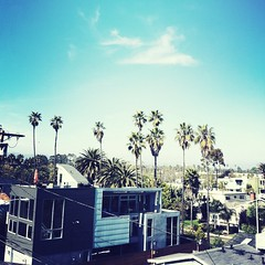 over venice (jared) Tags: california venice sky house architecture square losangeles canals palmtrees filter