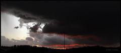 about to fall (haL 9oo0) Tags: sunset sky cloud sol water rain weather gua de landscape twilight horizon chuva paisagem cu nuvem tempo por climate horizonte crepsculo clima