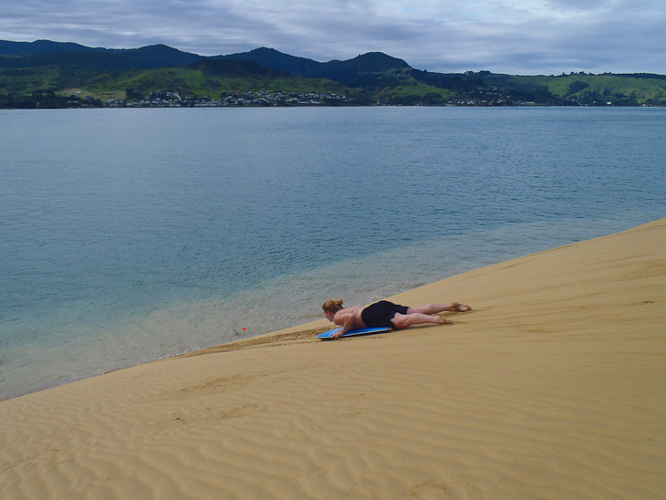 Sand-boarding-hokianga-new-zealand-first-run