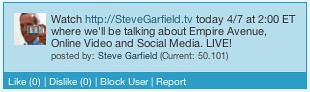 SteveGarfield.tv EmpireAvenue Ad
