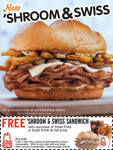 Free Arby's Sandwich coupon