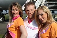 Natasja, Claude en Bambi (Bimbo Air) Tags: claude bambi steward natasja fotoshoot stewardes bimboair