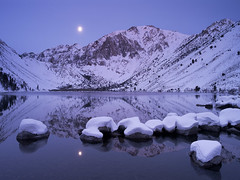 Blue Moon over Winter Lake (2011) (Hark Lee Photography) Tags: california longexposure winter moon snow photo pentax sharp mammoth yosemite monolake sierranevada easternsierra convictlake 645d harklee pentax645d
