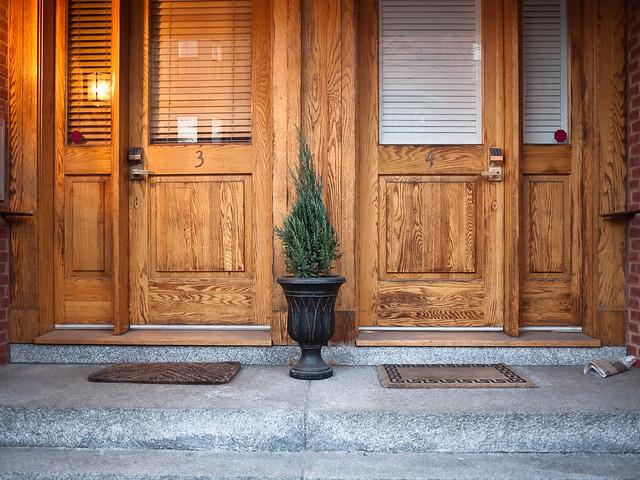 Tree Between Two Doors