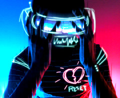 (-Sebastian Vargas-) Tags: light broken photoshop painting robot heart helmet edit reset cosmicolor