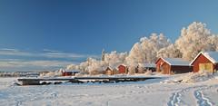 Frozen Lake, Ånnsjön (kkorsan) Tags: winter frost sweden boathouse jämtland 2010 åre ånnsjön