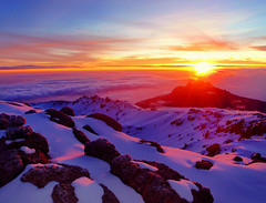 Sunrise at Summit of Kilimanjaro (wandernlust) Tags: africa roof light mountain snow kilimanjaro sunrise trekking trek point tanzania dawn volcano climb first peak mount climbing seven summit volcanic moshi arusha stellas mawenzi highest kibo machame summits flickraward flickraward5 mygearandme mygearandmepremium flickrawardgallery lpvistas