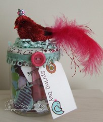 Spring Whimsy Jar by Amy Duff (amy.duff) Tags: spring whimsy jar swapbot