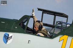 Pilot John Romain - Hispano HA.1112-M1L Buchon - 100711 - Duxford - Steven Gray - IMG_5676