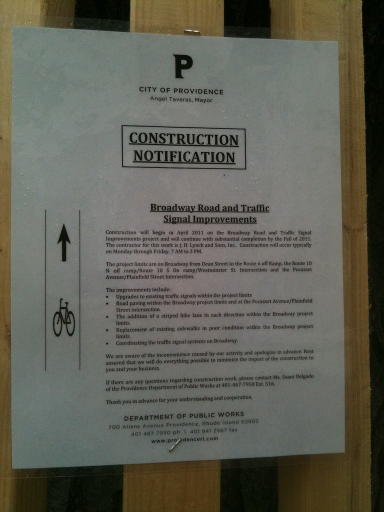 It is about time! #pvd #broadway #bikelanes