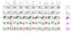 110413 - TVA《DOG DAYS》劇中的「フロニャルド」文字被網友破解,專屬50音表格公開中! (1/2)