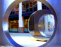 untitled (nrhodesphotos(the_eye_of_the_moment)) Tags: nyc abstract reflection eye art metal by buildings mall photos manhattan steel nolan columns financialdistrict h moment circular treatment the accented rhodes nrhodesphotosyahoocom dscn697274841nhr