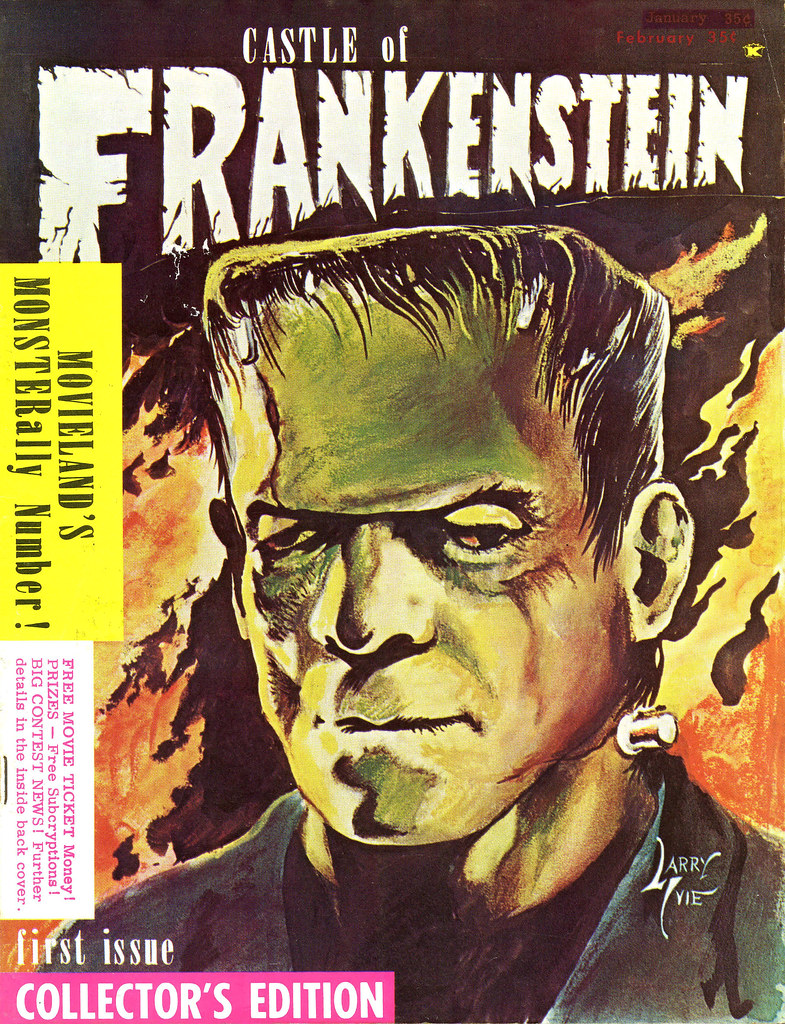 Castle Of Frankenstein, Issue 1 (1962) Cover Art by Larry Ivie