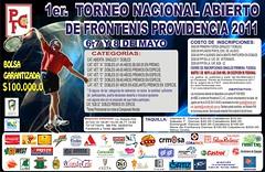 CARTEL Torneo Frontenis PROVIDENCIA