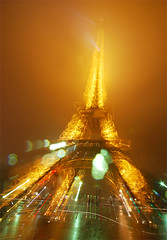 Foggy Eiffel Tower