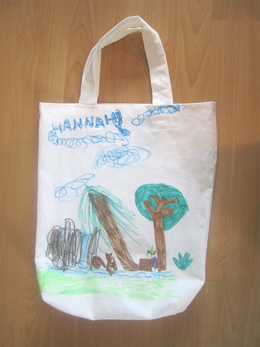 Hannah's homemade re-usable bag, side B