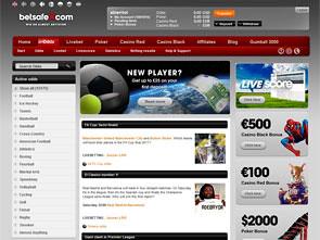 BetSafe Sportsbook Lobby