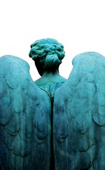 (armykat) Tags: monument statue angel wings oxidation copper patina elmwoodcemetery memphistennessee cmwdblue copperoxidation snowdensangel