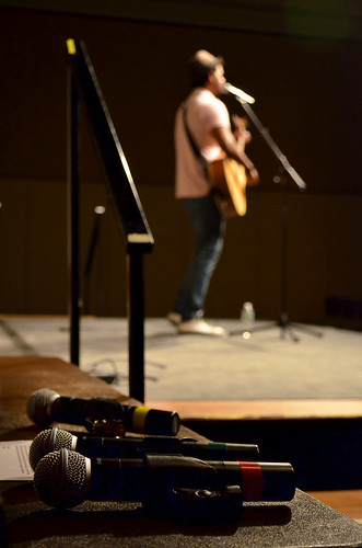 Oshan Gunawardana '12 performs at the Japan Benefit Concert. Photo by Matt Prokosch.