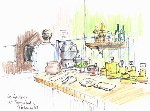 Sketchcrawl 31: Farmstead / La Laiterie Bistro, Providence, RI
