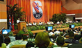 President Raul Castro addressing the delegates to the 6th Congress of the Communist Party of Cuba (PCC). The revolutionary Caribbean island-nation has sustained the struggle for socialism for five decades. by Pan-African News Wire File Photos