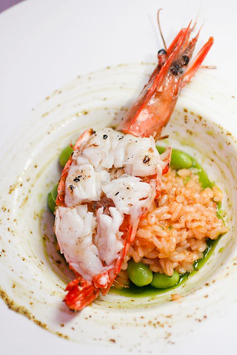 Shellfish Rissoto with Grilled Prawn