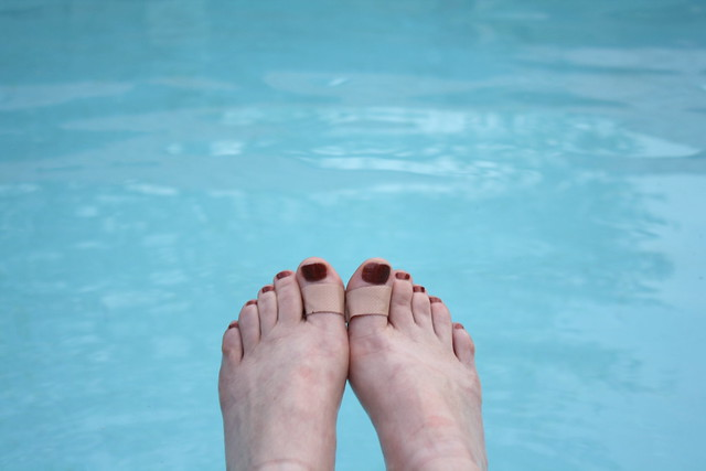 feet in pool