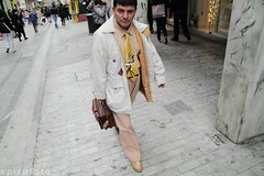 (spirofoto) Tags: street people man up yellow closeup photography close hard tie greece atehns spirofoto