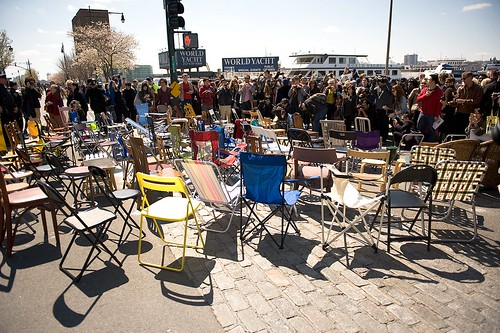 """1001 Chairs for Ai Weiwei"" in NYC"