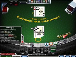 Face Up 21 Blackjack Rules