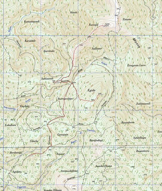 Mapa Eguide y Zuriain