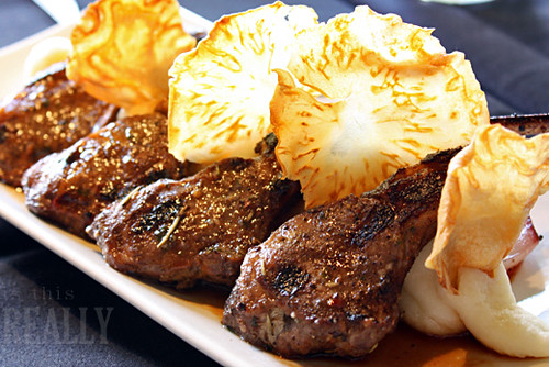 Faustina's grilled lamb chops