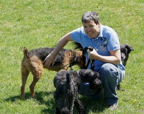 John at the lake with his dogs and Pepper 2 by Kingkongphoto & celebrity photos